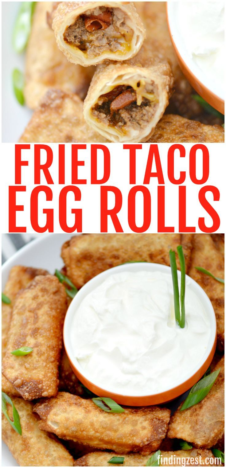 Taco Egg Rolls for Game Day