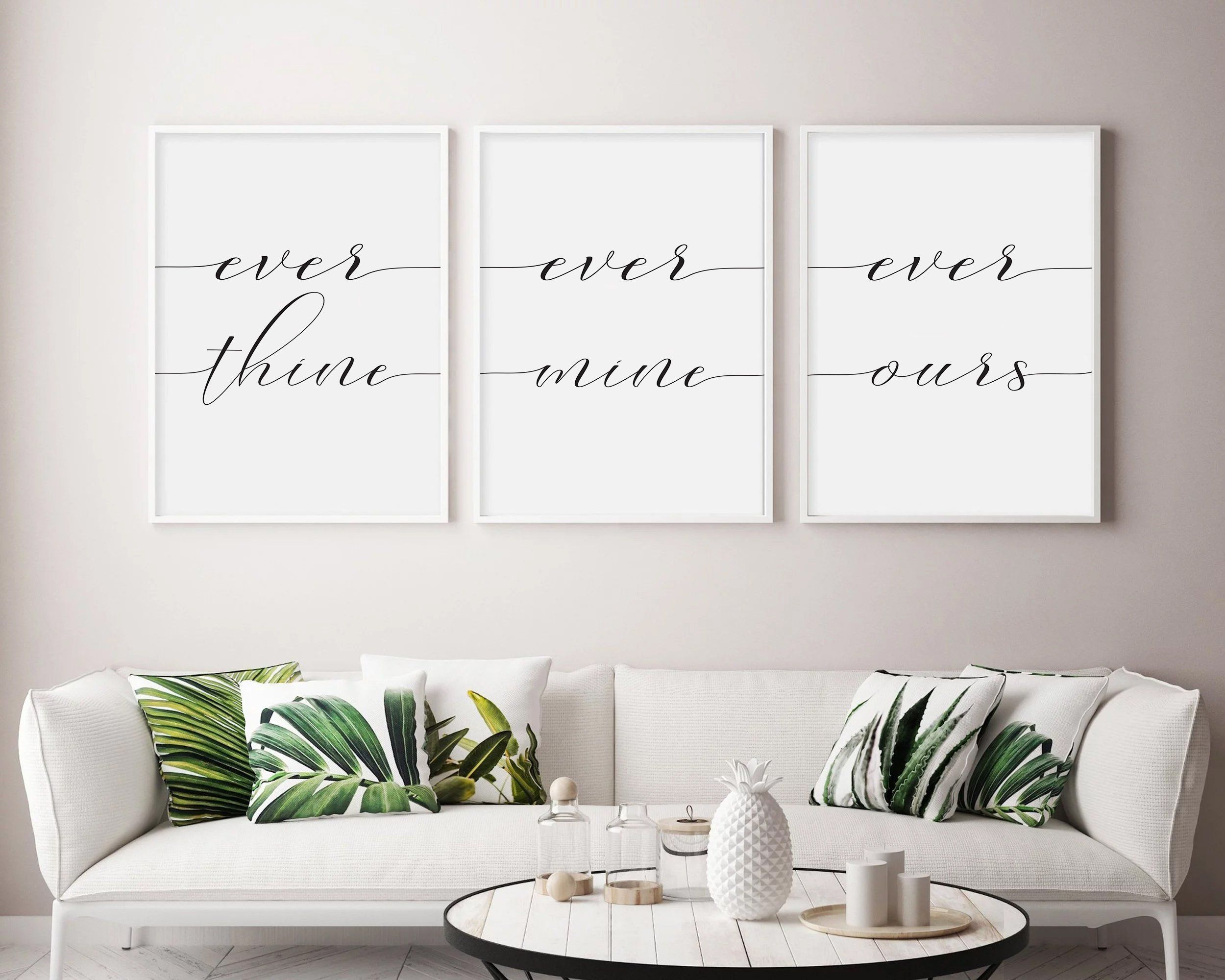 Ever Thine Ever Mine Ever Ours Print Home Decor Wall Art Etsy Guest Room Print Tumblr Room Decor Christian Wall Art Printable