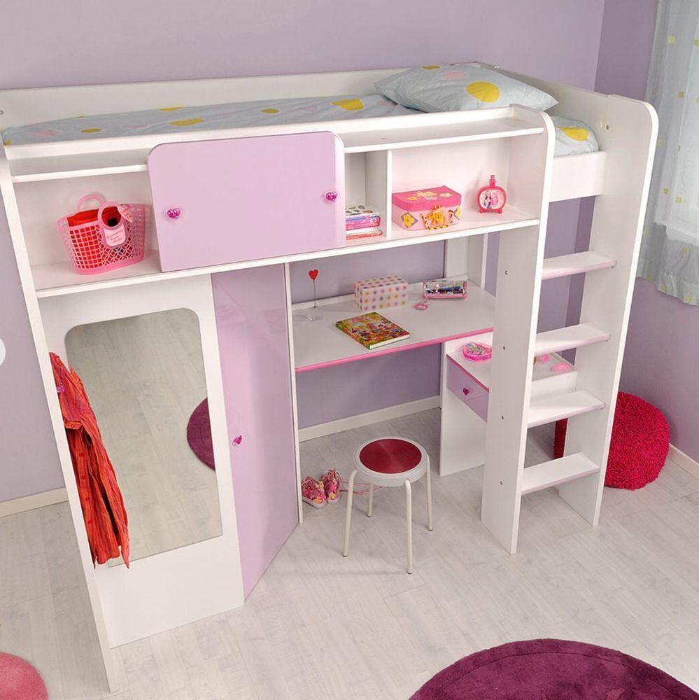 Hochbett Yasmin Mit Schrank Und Schreibtisch Kinderzimmer Mobel