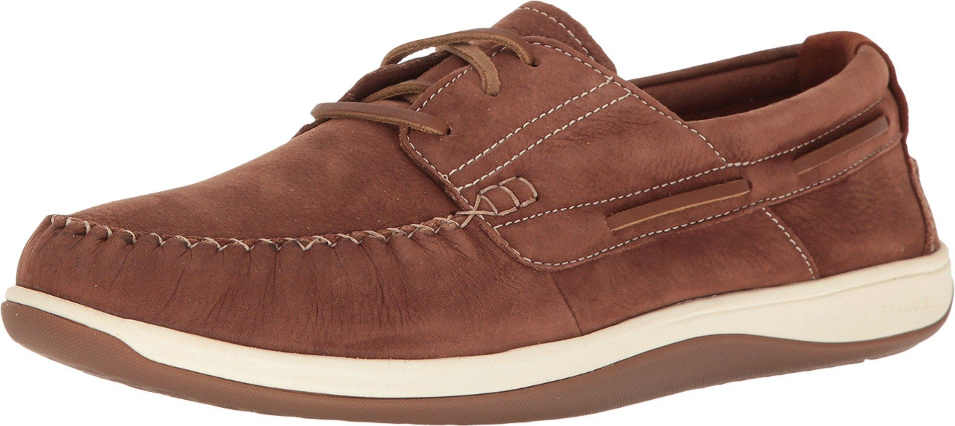 89755b886ee Cole Haan Men s Boothbay Boat Shoe Harvest Brown Nubuck Oxford ...