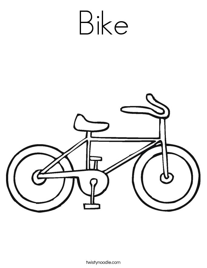 Royalty Free Bisiklet Resmi Boyama Okulonce