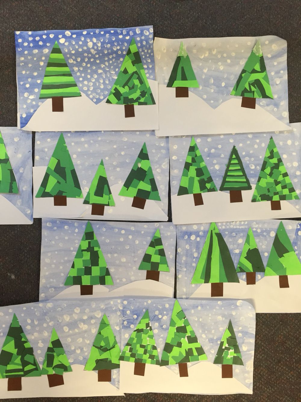 Christmas Trees Winter Christmas Art Projects Holiday Art Christmas Crafts