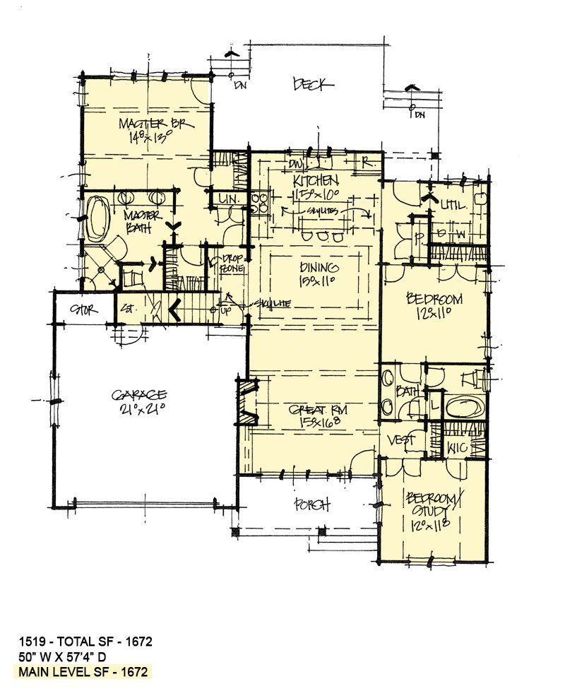House Plan 1519 Compact Living Don Gardner House Plans Simple Floor Plans Drawing House Plans House Plans