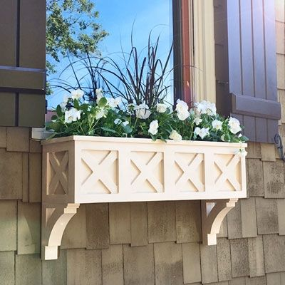 Pin By Elizabeth Burns On Denmead With Images Window Planter Boxes Window Box Flowers Window Boxes Diy