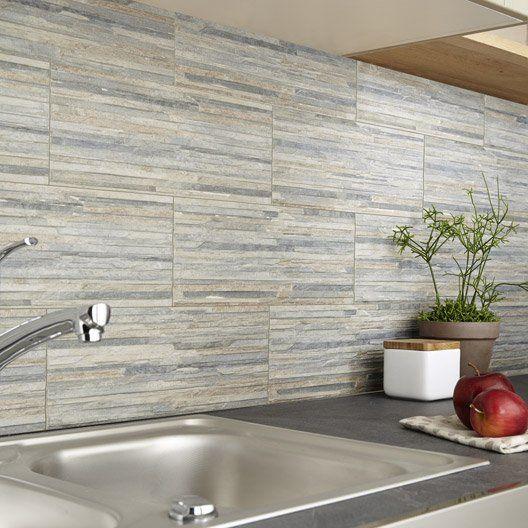 Carrelage mural piana premium en gr s c rame maill rouille 16 x 42 cm salle de bain - Decoration carrelage mural cuisine ...