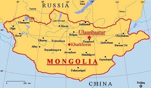 This Is The Map Of Mongolia Two Major Cities Are Darchan And - Map of mongolia