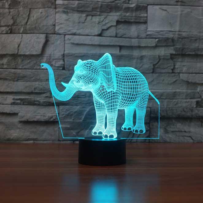 Elephant 3d Illusion Lamp Elephant Night Light 3d Illusion Lamp 3d Illusions