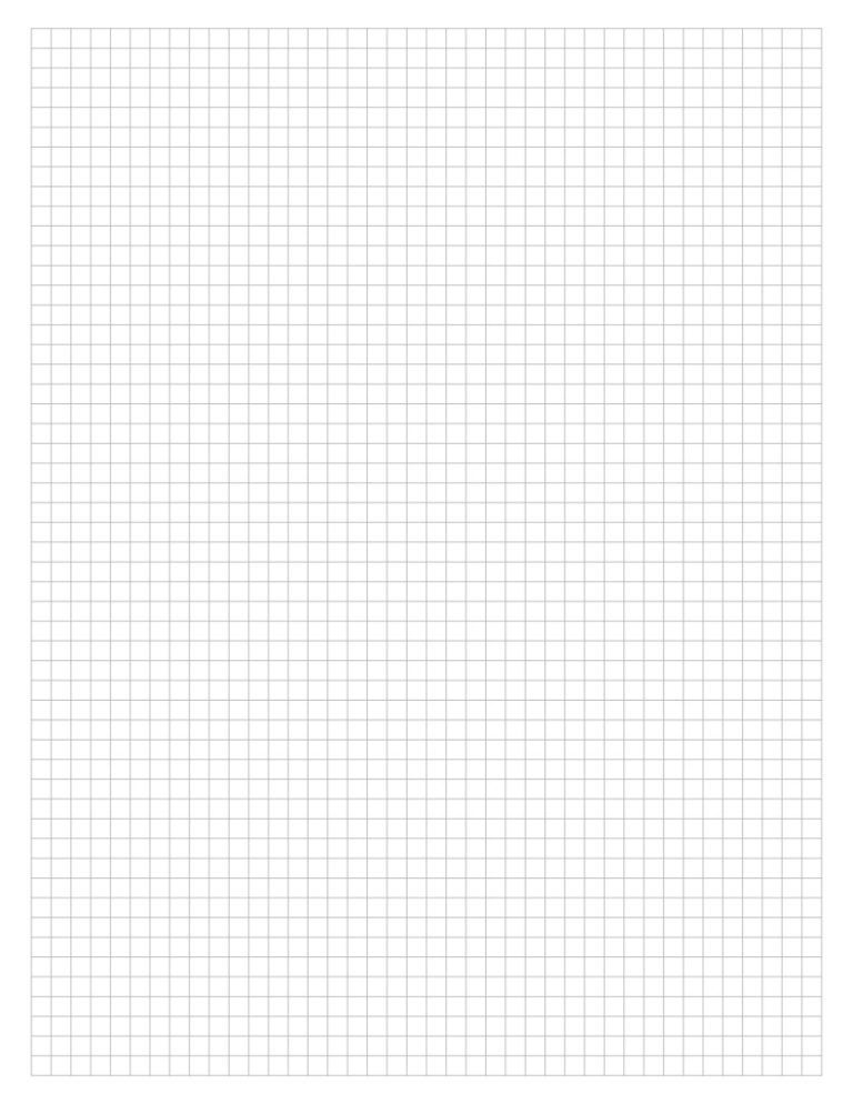 Thumbnail Of Printable Graph Paper Letter Grey Grid 5 Mm Kertas Catatan Buku Catatan Kartu Kertas