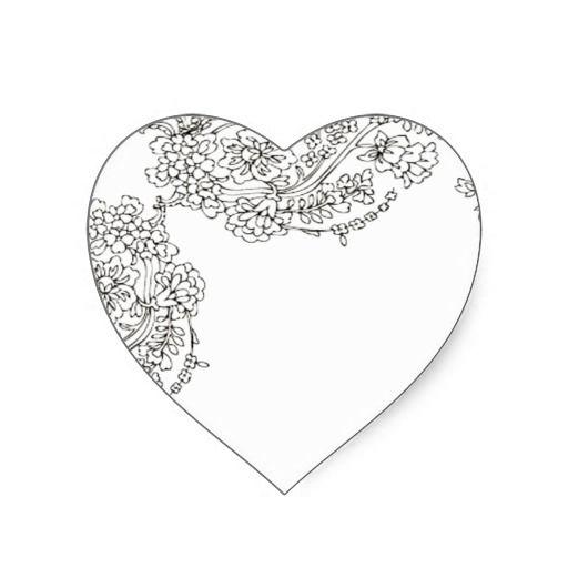 Vintage Lace Tattoo Look Heart Sticker