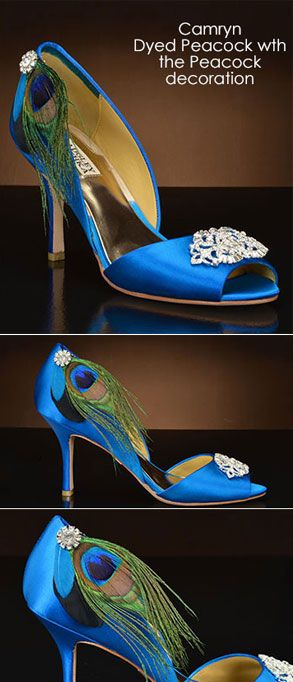 Design Your Own Wedding Shoes At MyGlassSlipper Camryn By Badgley Mischka Dyed Peacock
