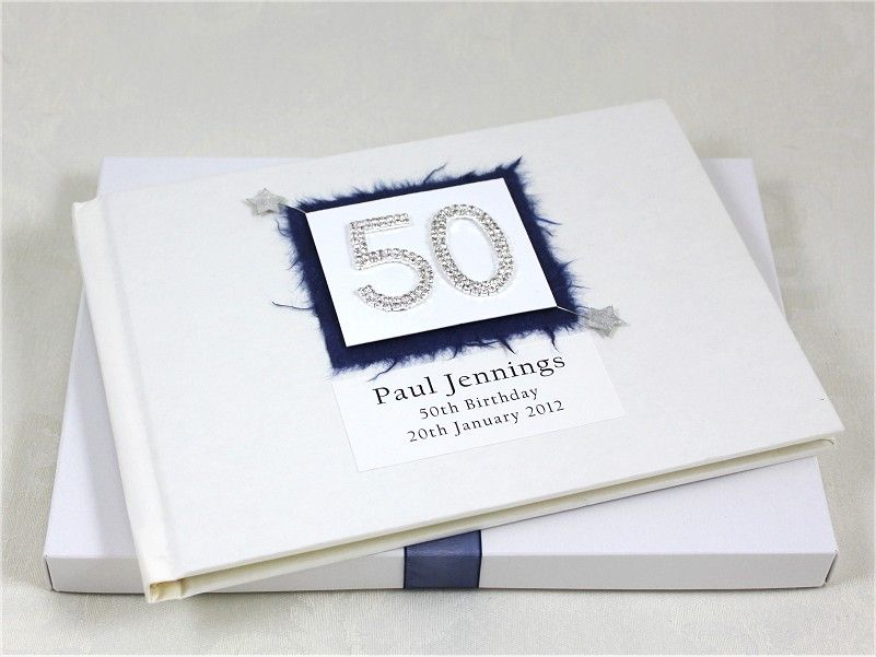 Personalised 50th Birthday Guest Book £29.99. http ...