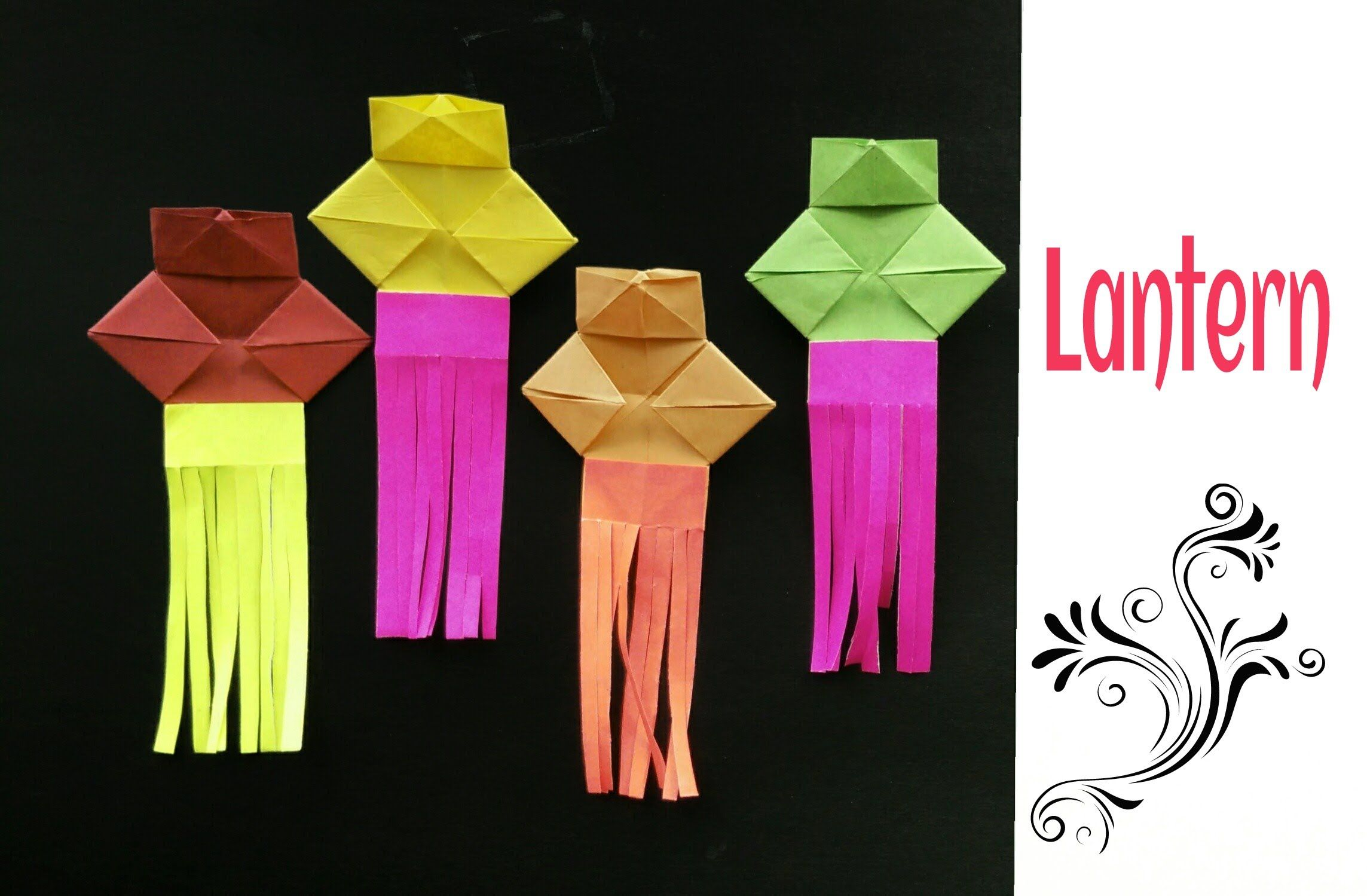 Origami Paper Simple Lantern Diwali Christmas Eid Decoration