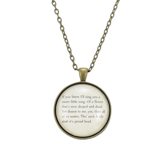 9e0454986f613 Personalized Song Lyric Necklace, Custom Pendant For Song Lyrics Or ...