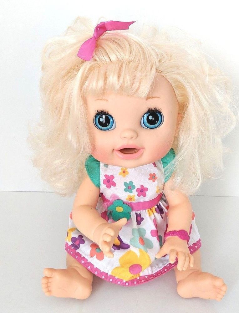 Baby Alive 2012 Real Surprises Interactive Blonde Doll Bilingual English Spanish Babyalive Dollwithclothingaccessories Baby Alive Bilingual English Bilingual