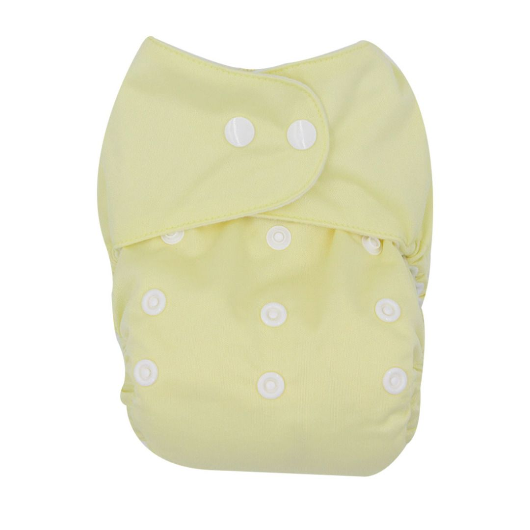 Baby Suede Lining Snap Cloth Diaper in Light Yellow, 20% discount @ PatPat Mom Baby Shopping App