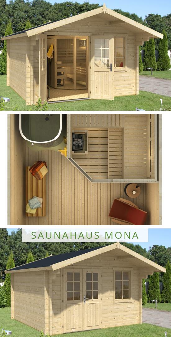 Saunahaus Modell Mona 70 Das Gartenhaus Saunahaus Mit Sauna Und Grossem Entspannungsraum Wer Wurde Hier Nicht Outdoor Sauna Sauna Design Sauna Bathroom Design