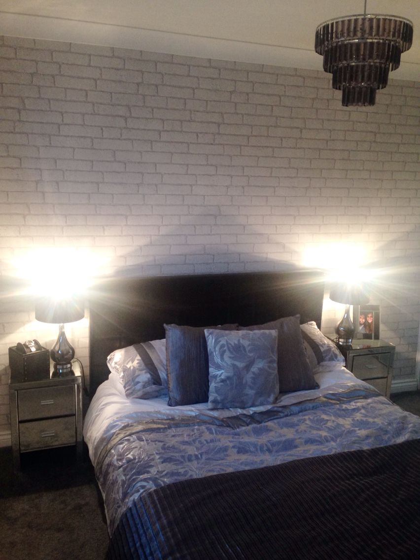 White Brick Wallpaper Bedroom … | Bedrooms for Mia & Kim in ...