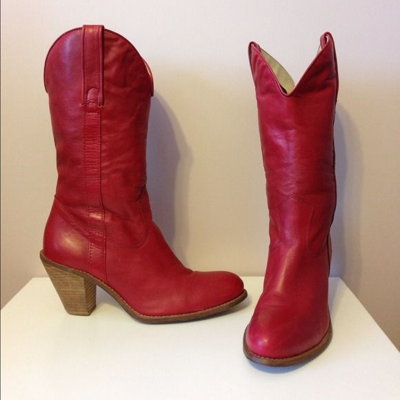 Jessica Simpson red cowgirl boots | D, Boots and Cowboys