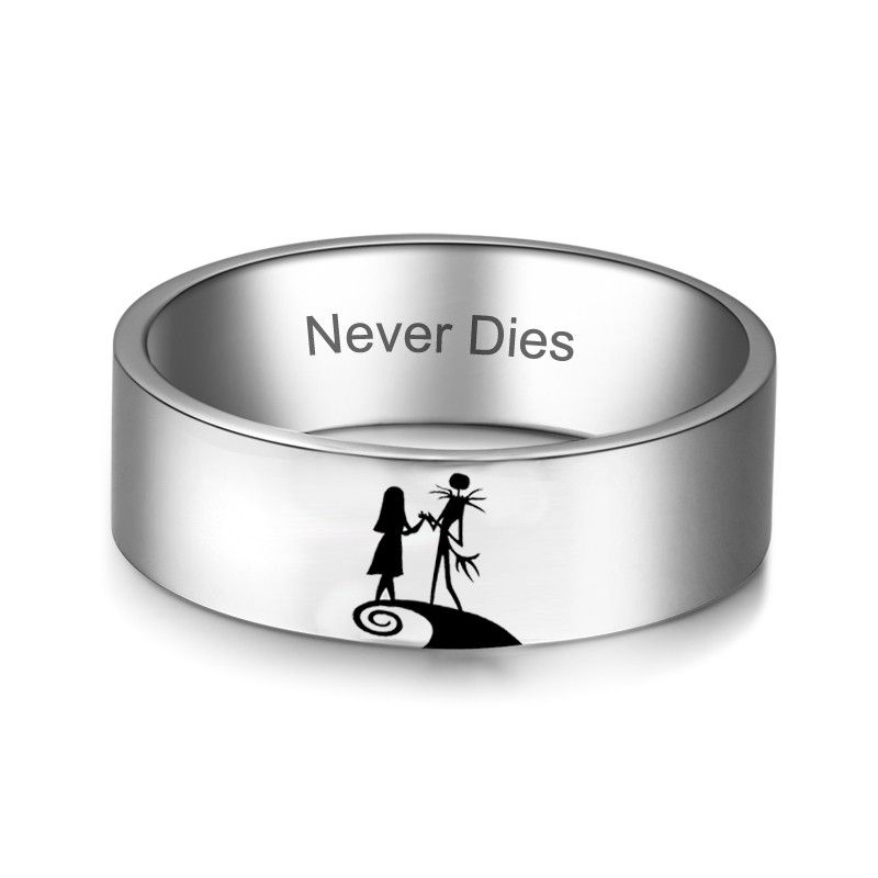 Jack And Sally Couple Rings Nightmare Before Christmas Wedding Ring His And Hers Rings Couple Wedding Rings Nightmare Before Christmas