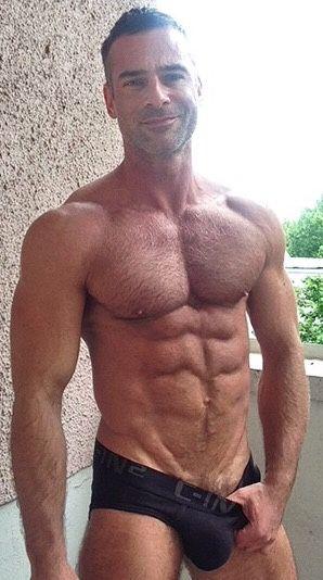 Hairy man crotch