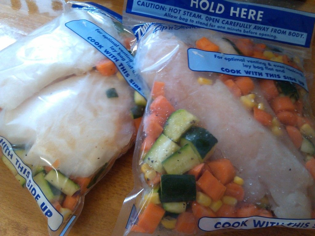 Healthy Make Ahead Frozen Seafood Meals Using Microwave Steamer Bags