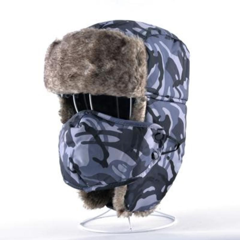f01f75c456459 Winter Camouflage Faux Fur Trooper Hat – Choice Camo