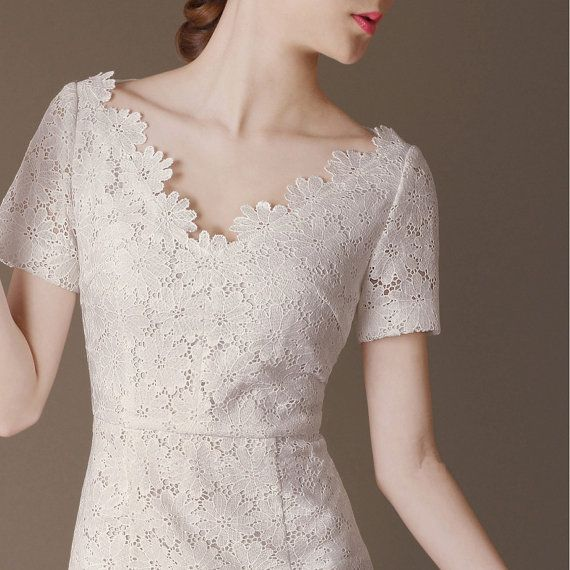 White Lace Dress made to order