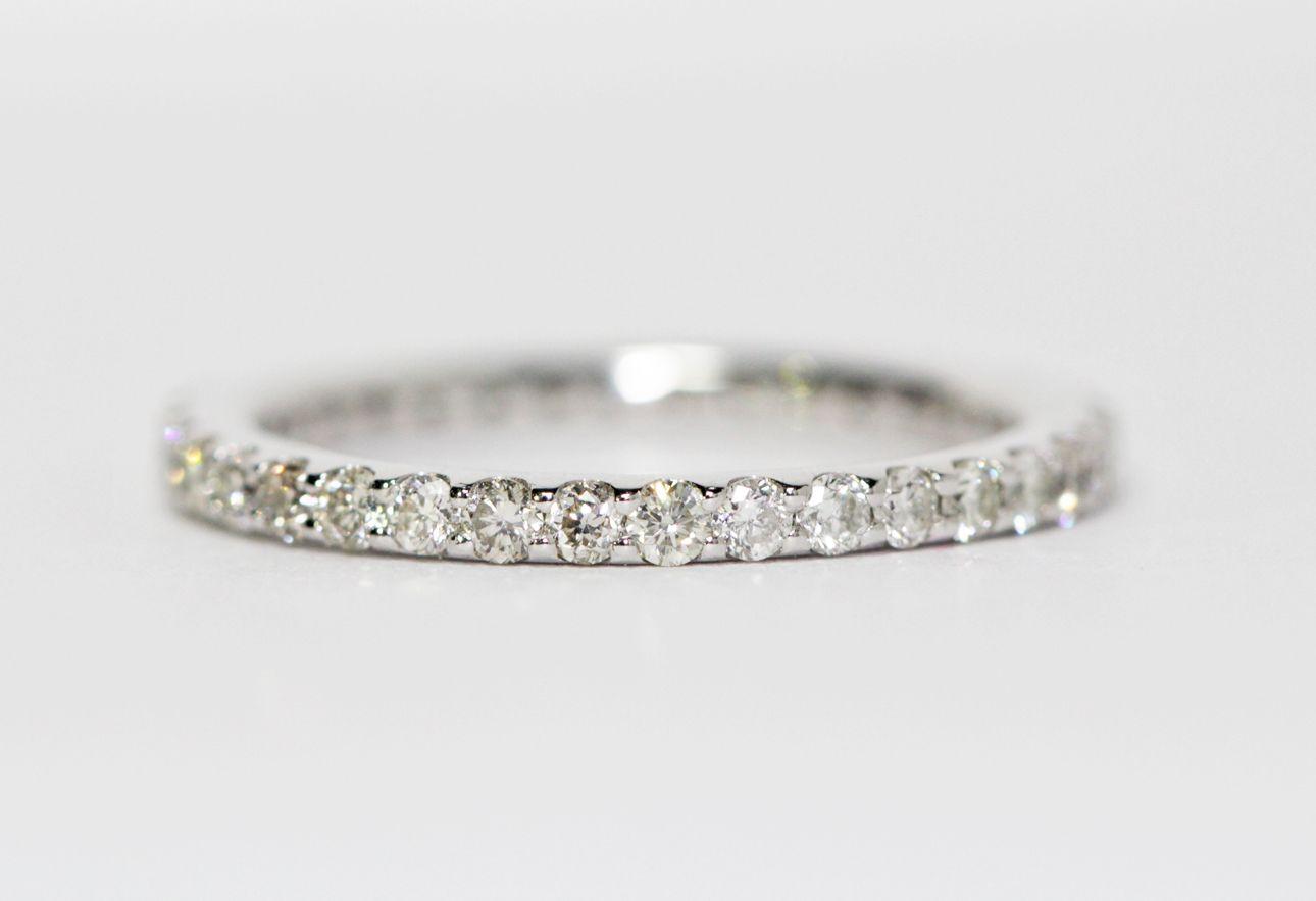 Classic White Gold Diamond Eternity Band 0 65ctw Weddingband Weddingring Gettingmarrie Engagement Rings Bridal Sets Wedding Ring Sets Eternity Band Diamond