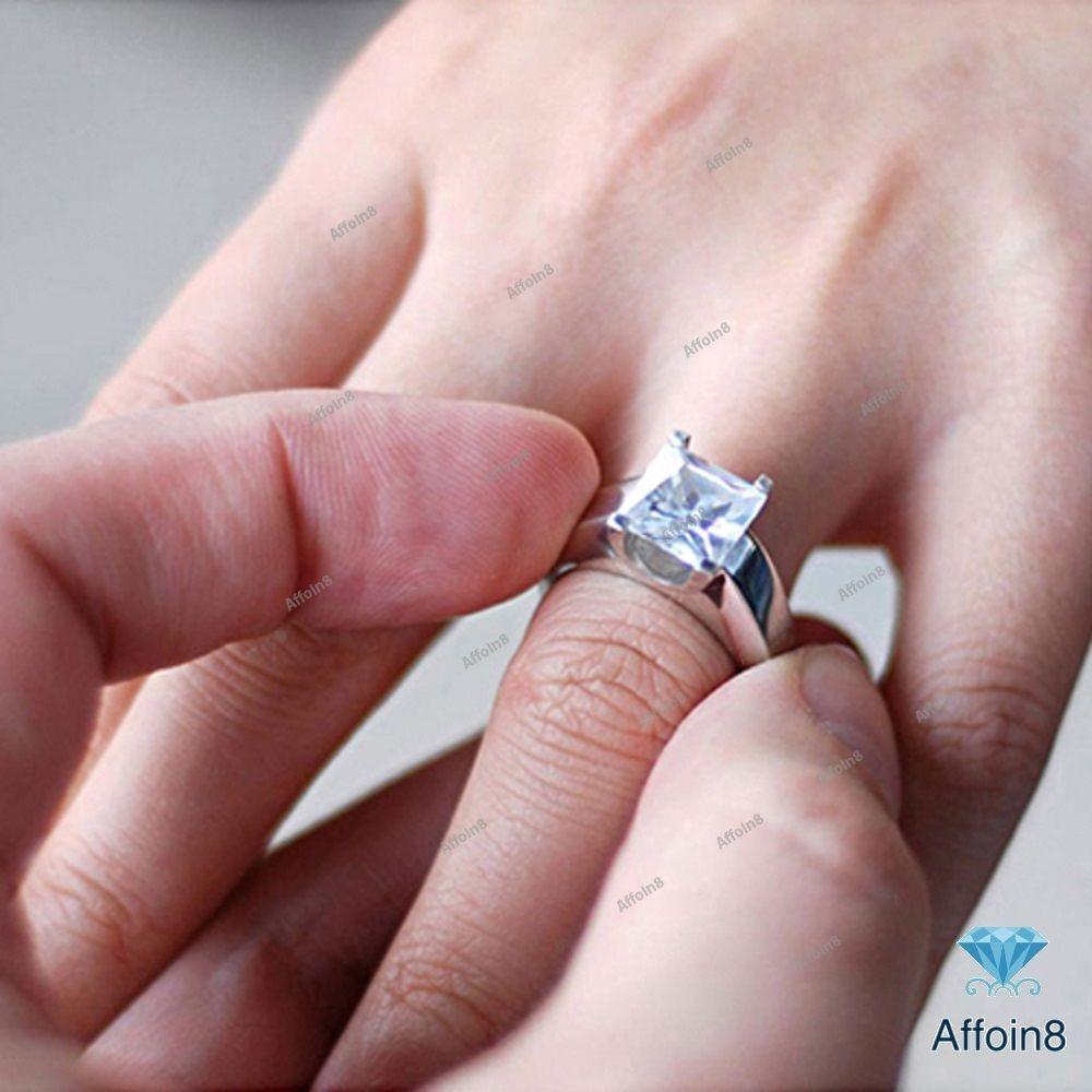 Women\'s Solitaire Engagement Ring 1.28 CT Princess Cut D/VVS1 ...
