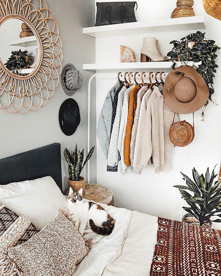 Ontwerp met bohemelslaapkamers en beddengoed Check more at https://www.decorationandideas.com...