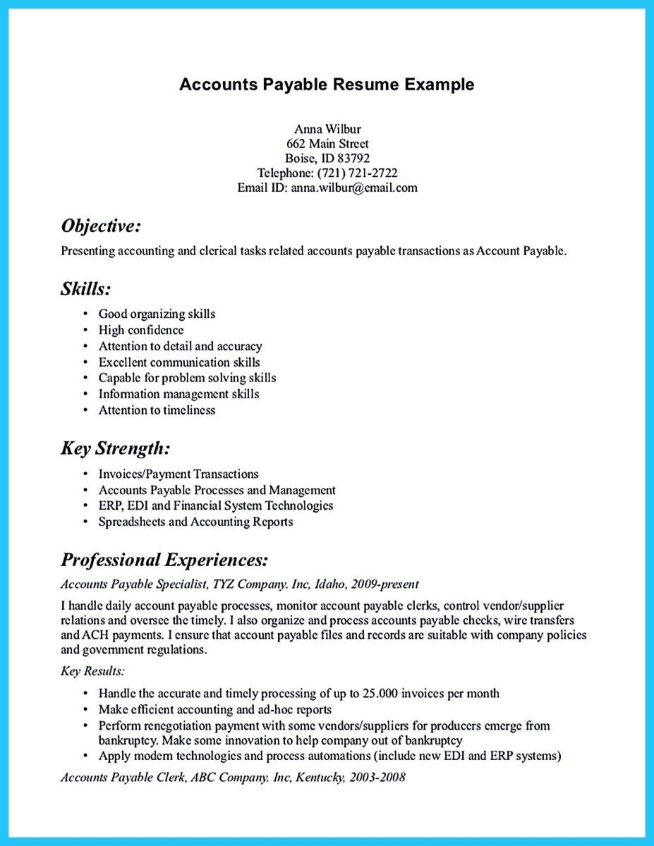 Nice Best Account Payable Resume Sample Collections Check More At  Httpsnefci   Collections Resume  Collections Resume