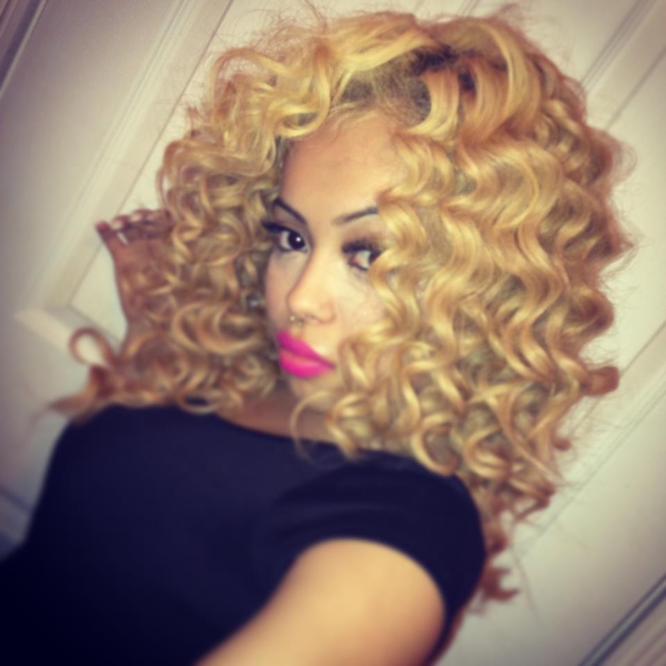 Black Girls Club: Blonde Curly Hair
