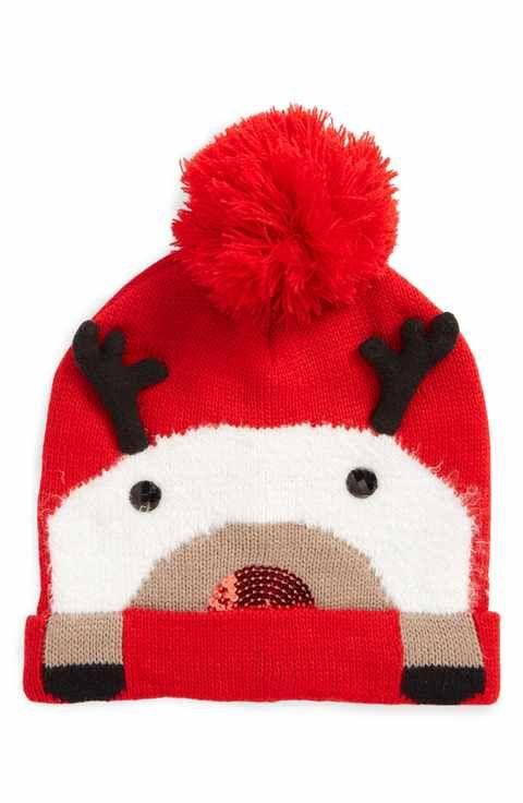 d2a729d162d04 Collection XIIX Dasher Reindeer Beanie Christmas Beanie