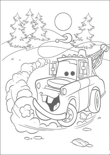 Mater Going Backwards Cars Coloring Pages Monster Truck
