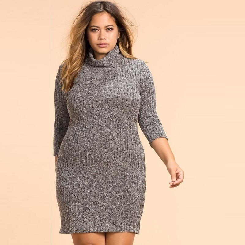 High Neck Plus Size Dress | Furrple | Dresses | Pinterest ...