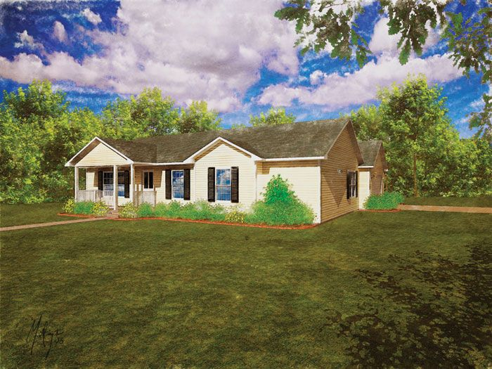 Modular Home The Monticello 3 Bedroom 2 Bath 1410 Sq Ft Ranch Modular Homes House Styles Floor Plans