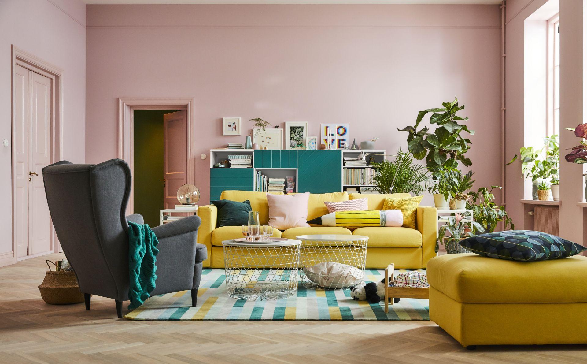 vimle 3 zitsbank orrsta goudgeel zitbank poef en fauteuil. Black Bedroom Furniture Sets. Home Design Ideas