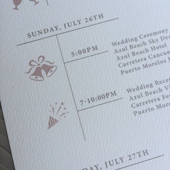 Wedding Itinerary  Elegant And Vintage  Wedding Weekend Agenda