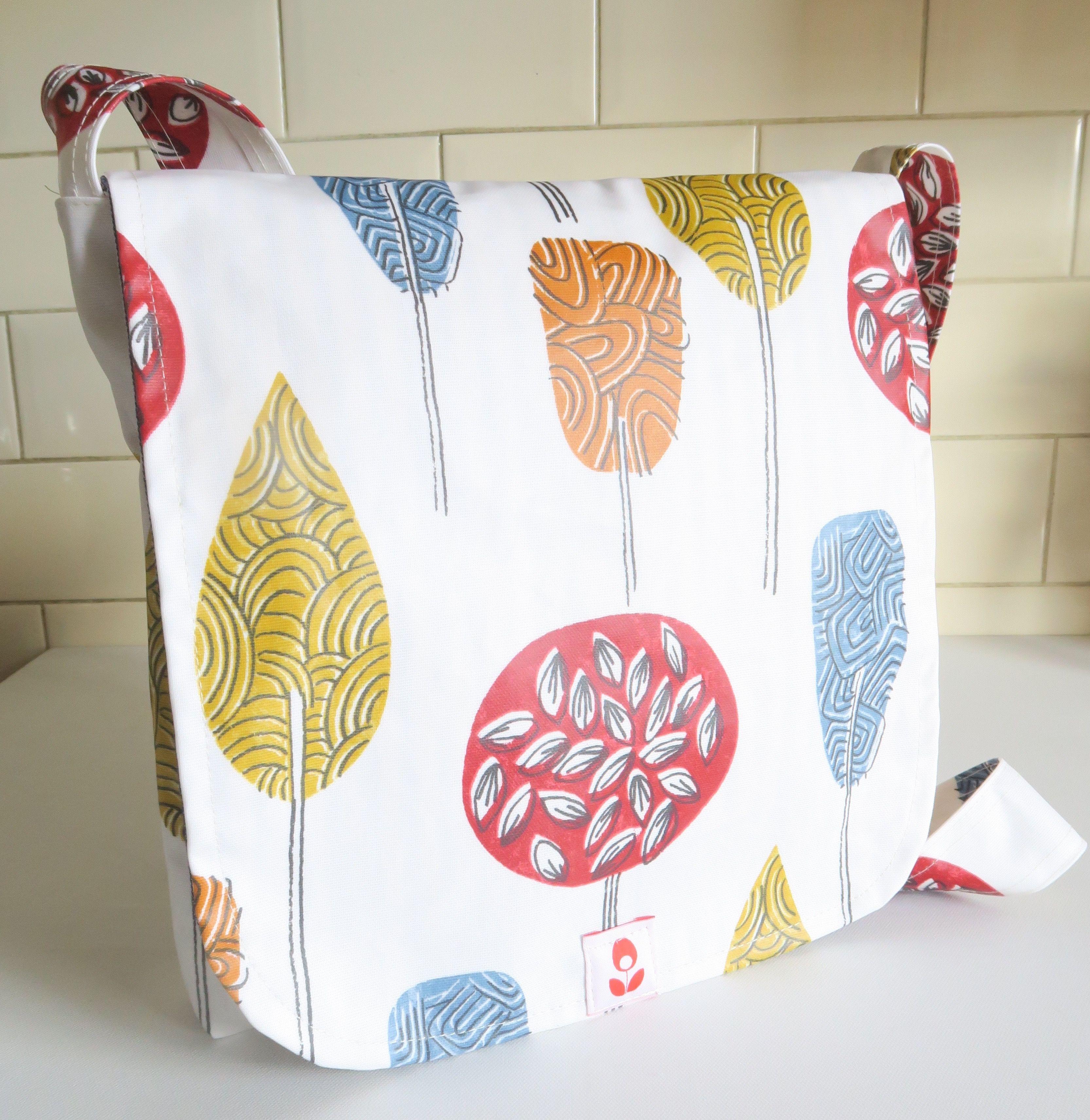 Scandinavian Design Oilcloth Messenger Bag Oil Cloth Mabel Scandinavian Design