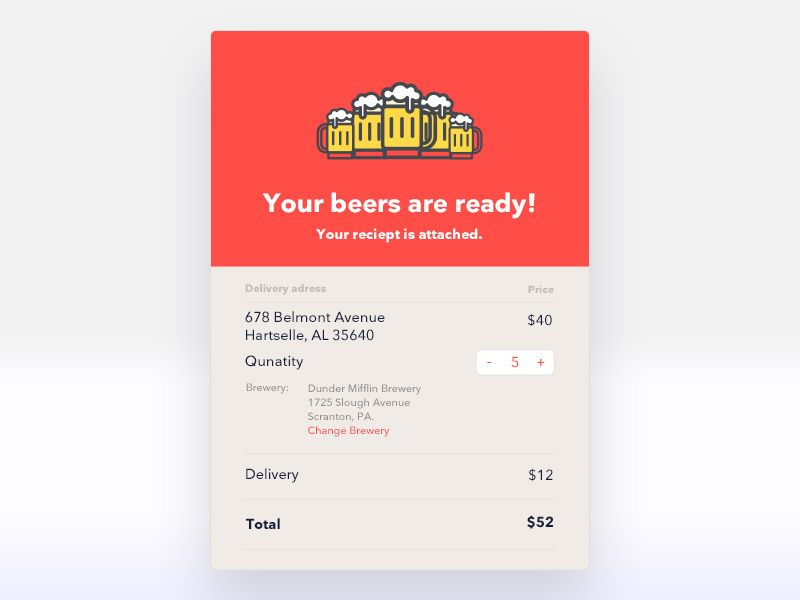 Email Receipt #FREE #PSD UI UX Designs Pinterest UI UX - email receipt template free