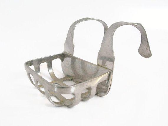 Nickel Or Chrome Plated Brass Hanging Soap Dish Clawfoot Bathtub