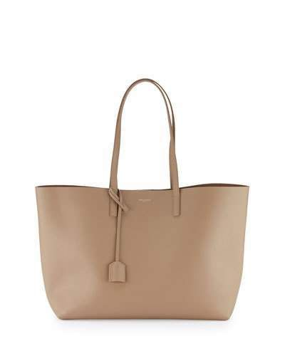 Saint Laurent Large Shopping Tote Bag, Dark Beige