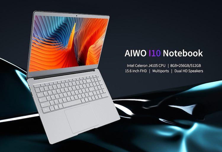 Aiwo I10 Notebook With Intel Celeron J 4105 2 5ghz 8gb Ram 512gb Ssd Intel 8gb Ssd