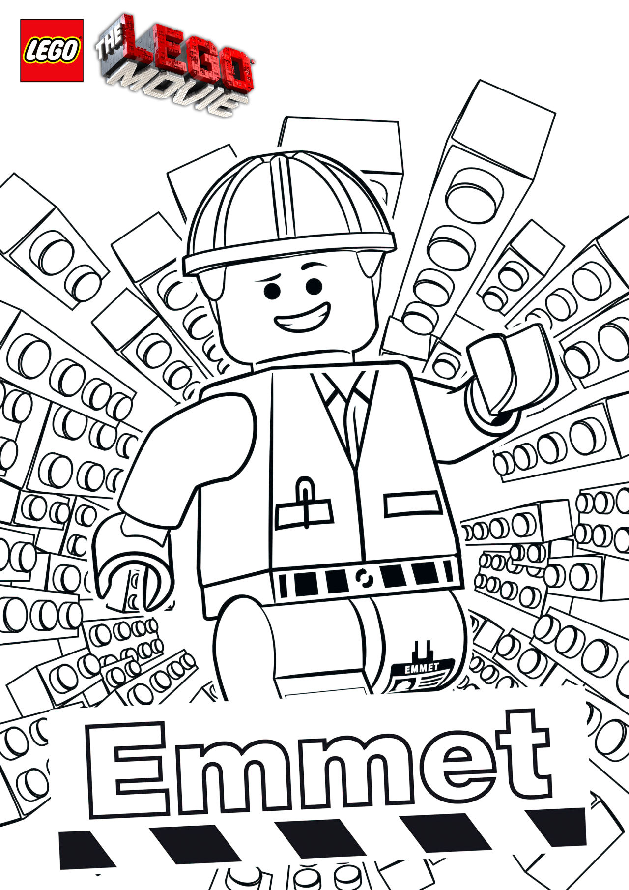 The LEGO Movie Coloring Pages - lego-minifigures | Lego movie and Lego