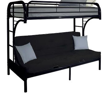Bunk Bed Cabot Extra Long Twin Over Queen Futon
