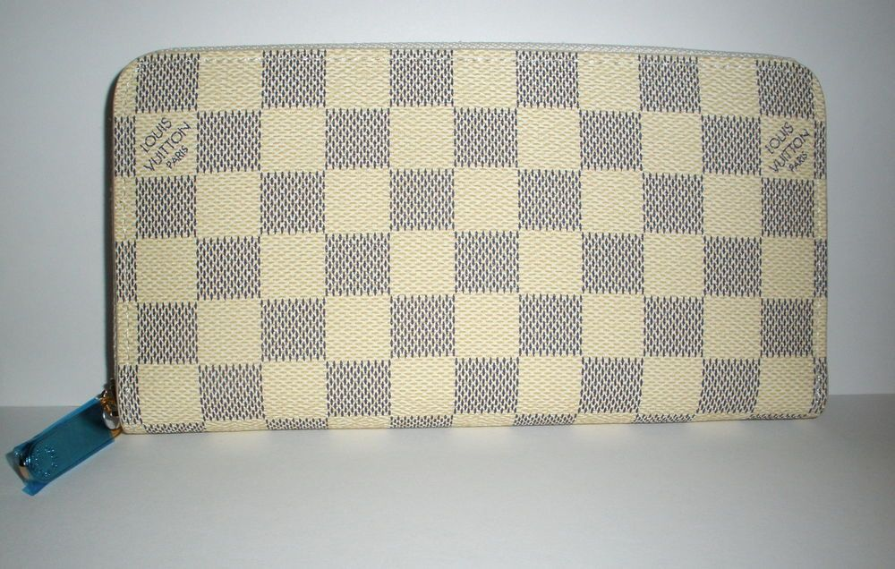 aa3a2b50 Louis Vuitton N60017 Damier Azur Canvas Zippy Long Wallet ...