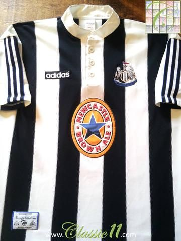 376798b425c Relive Newcastle United s 1995 1996 season with this original Adidas home  football shirt.