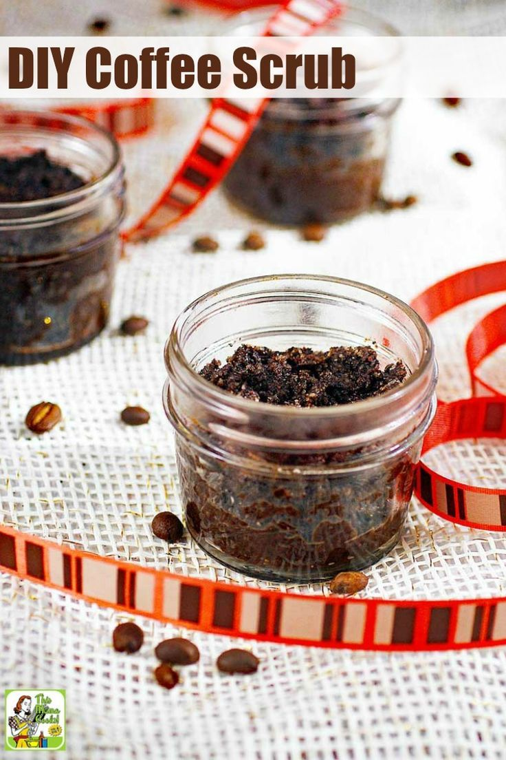 DIY Coffee Scrub makes a terrific homemade gift. This easy
