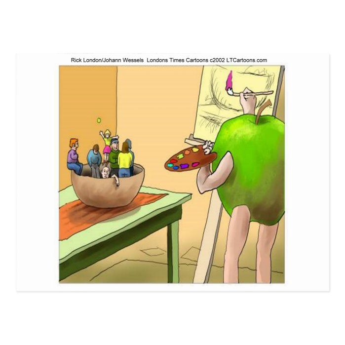 People Still Life Funny Cartoon Postcard