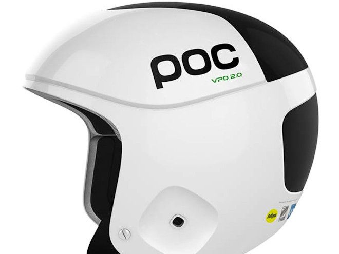 SMART SKALLE: Denne POC-hjelmen har en bryter som enkelt forteller deg om hjelmen tåler flere trøkker.